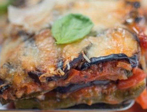 Aubergine, courgette & Parmesan Bake